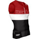 Compressport TR3 Triathlon Tank Top Unisex Ironman Edition Stripes Red